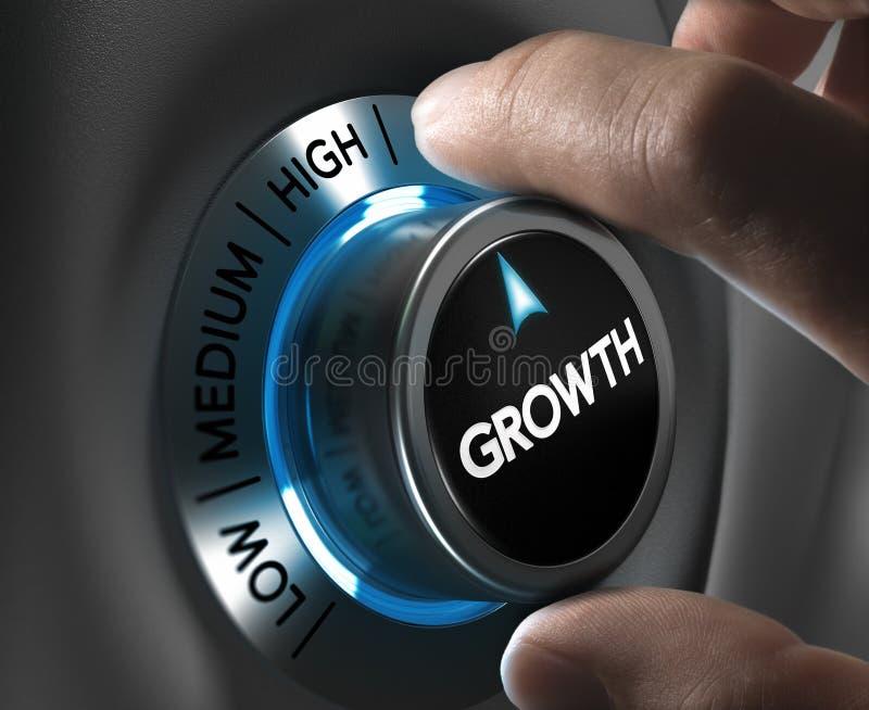在指向箭头企业买卖人概念巨型的增长附近 皇族释放例证