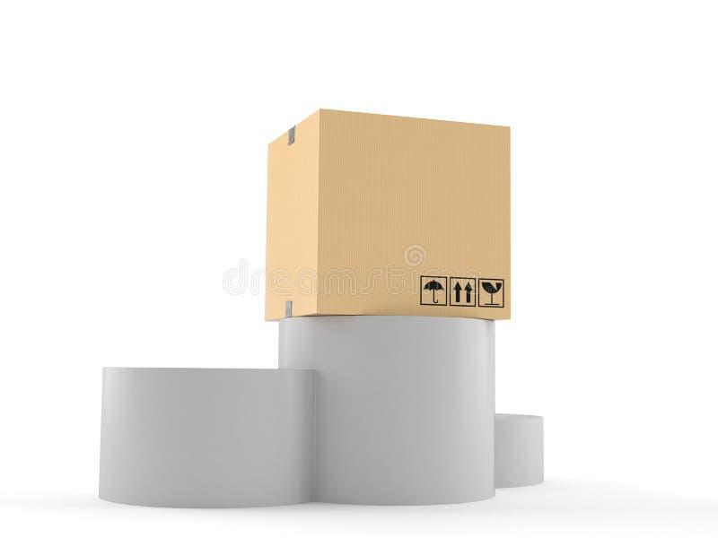 在指挥台的包裹 向量例证