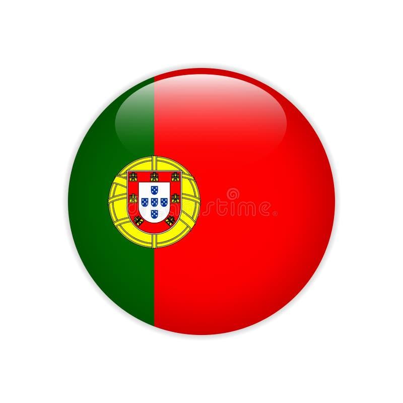在按钮上的葡萄牙旗子 向量例证