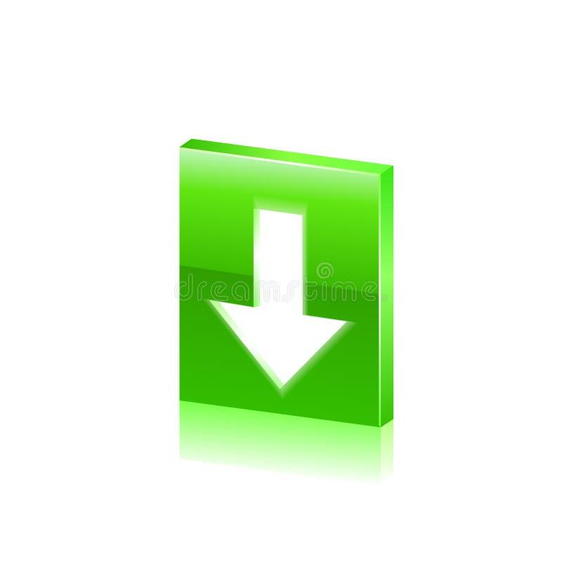在按钮下载页之上某事 向量 向量例证