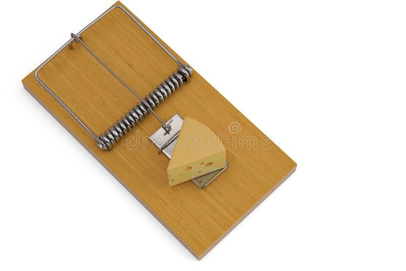 在捕鼠器的乳酪 3d例证 皇族释放例证