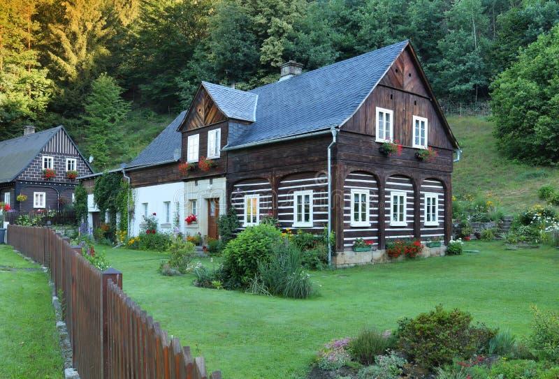 在捷克共和国的传统村庄 库存照片
