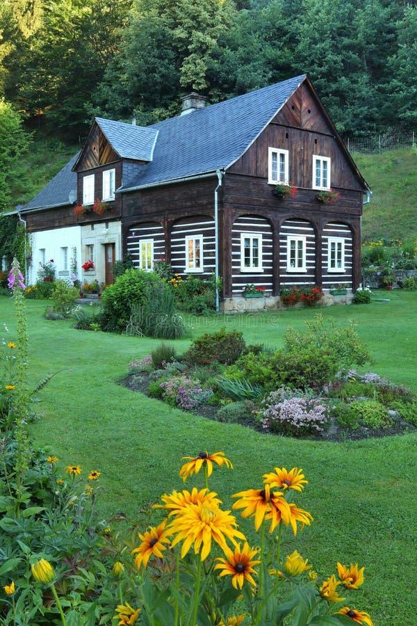 在捷克共和国的传统村庄 免版税图库摄影