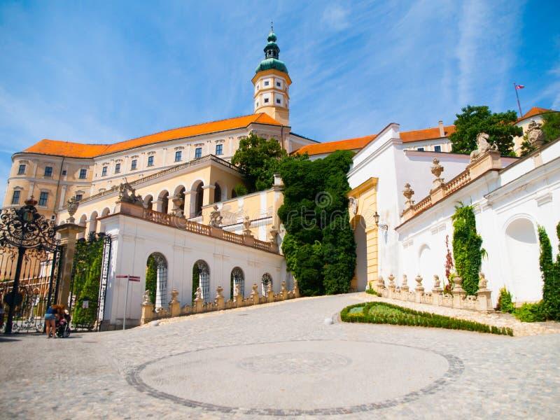 在捷克共和国Castle.Photo采取的Mikulov 库存图片
