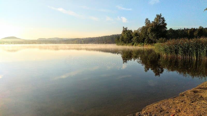 在捷克天堂的晴朗的早晨 库存照片