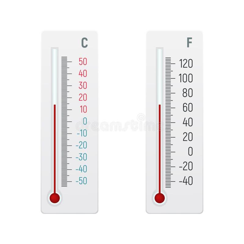 在摄氏度和华氏酒精温度计 皇族释放例证