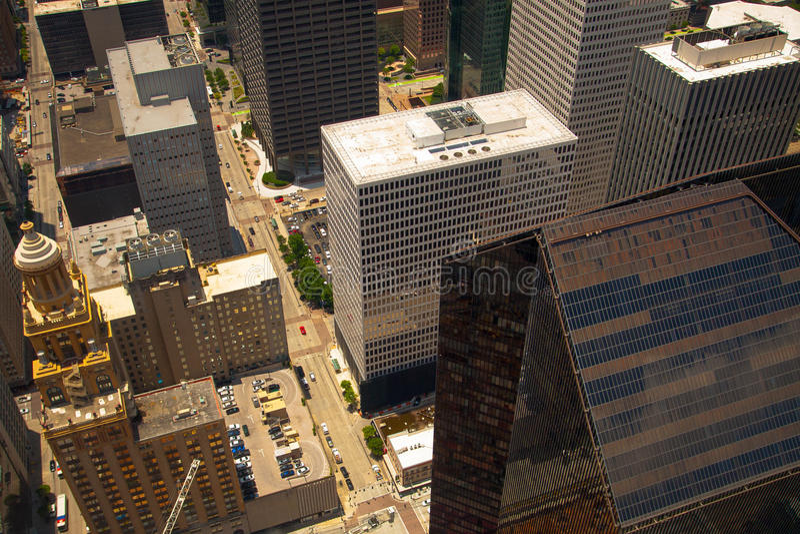在摩天大楼上 库存照片