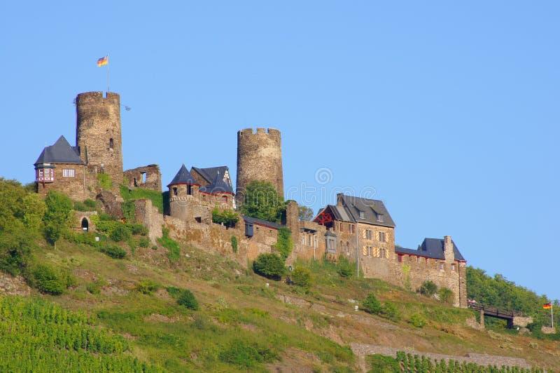 在摩泽尔的城堡Thurant 库存图片