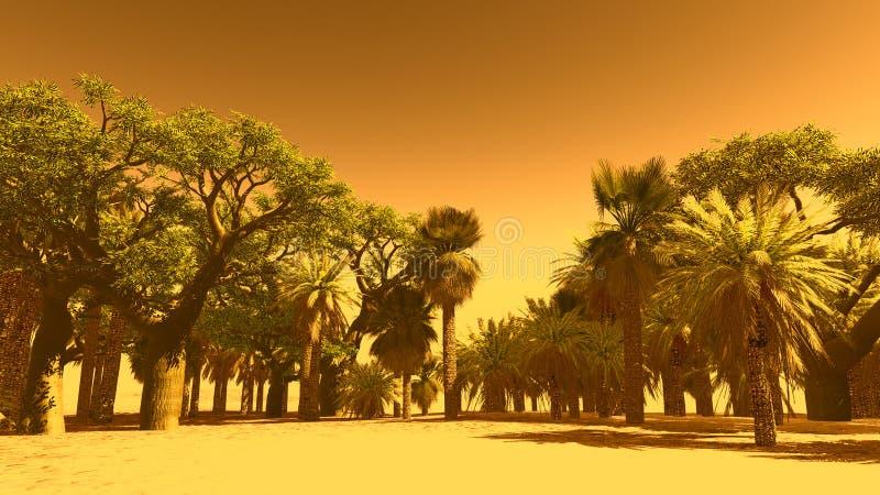 绿洲在摩洛哥 皇族释放例证