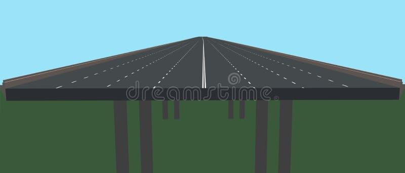 在支持的高速公路 3d例证向量 皇族释放例证