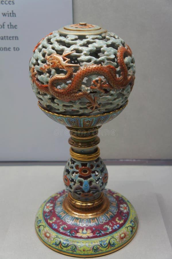 在故宫博物院的陶瓷 库存照片