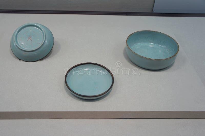 在故宫博物院的Ru陶瓷 库存照片