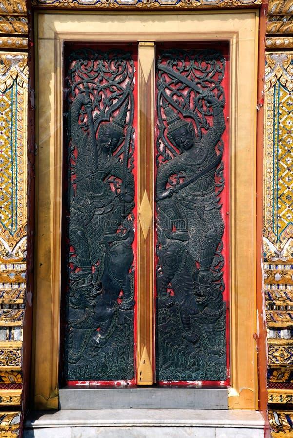 在教会的进口的泰国艺术Wat的Benchamabophit 免版税库存图片