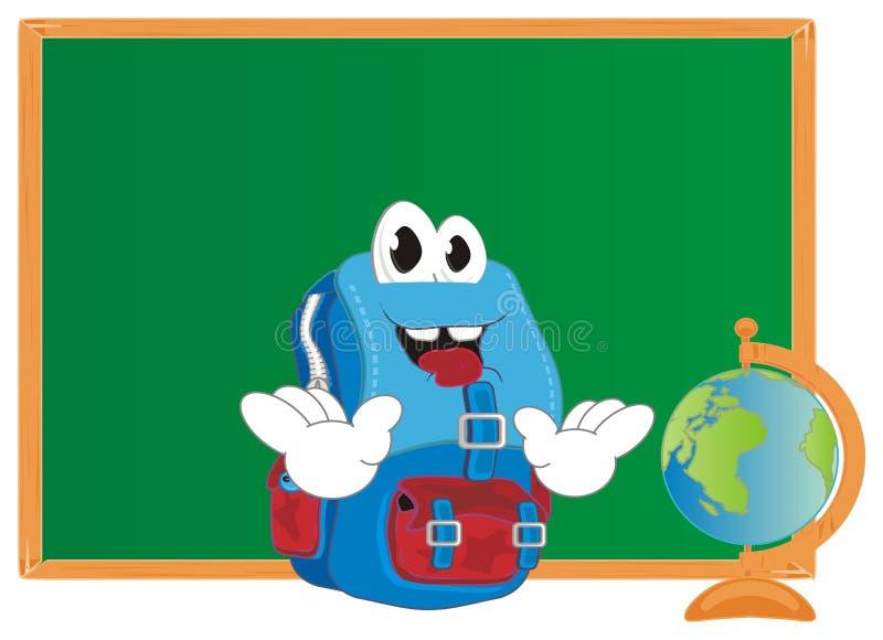 在教室的愉快的背包 向量例证