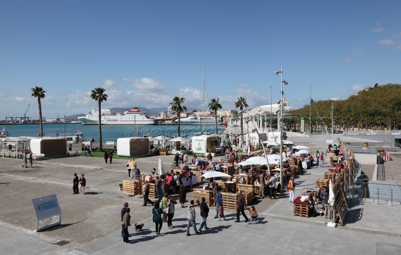 市场在马拉加,西班牙 免版税库存照片