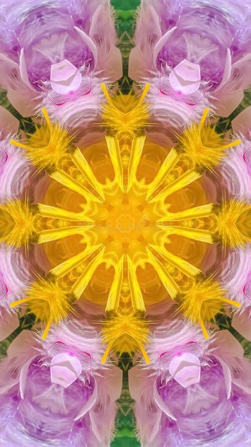 在数字一个用花装饰的样式的垂直的五颜六色的羽毛 皇族释放例证