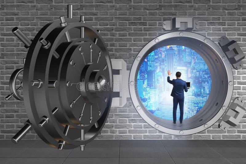 在数字式的商人防护网络威胁 免版税库存图片