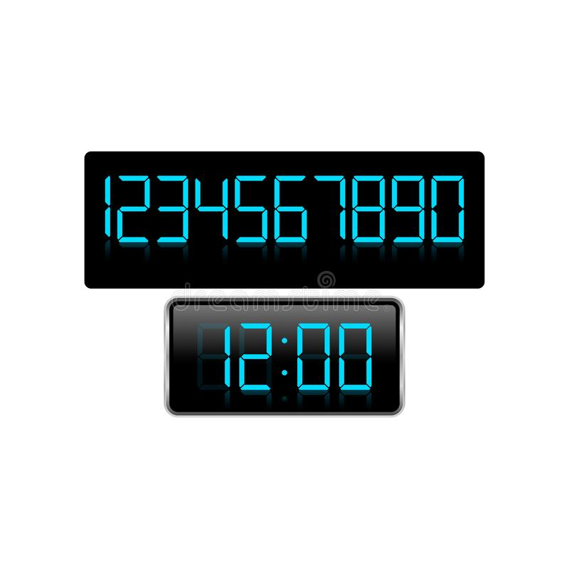 在数字样式定时器的储蓄传染媒介时钟象在颜色backgrou 库存例证