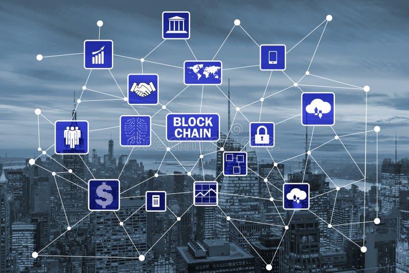 在数据管理的blockchain概念 免版税库存照片