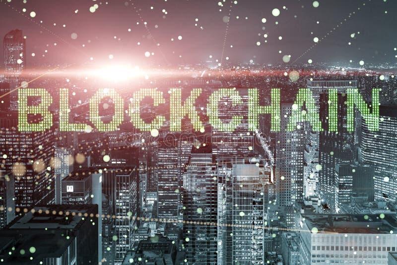 在数据管理的blockchain概念 免版税图库摄影