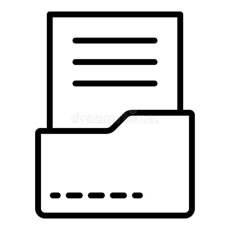 在文件夹象,概述样式的文件 皇族释放例证