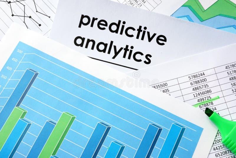 在文件写的有预测性的逻辑分析方法 免版税图库摄影
