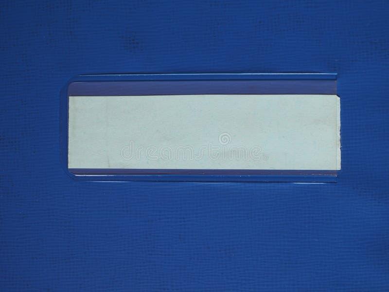 在文件夹的标记标签 免版税库存照片