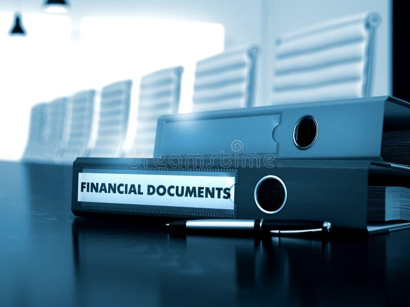 在文件夹的财政文件 被弄脏的图象 图库摄影