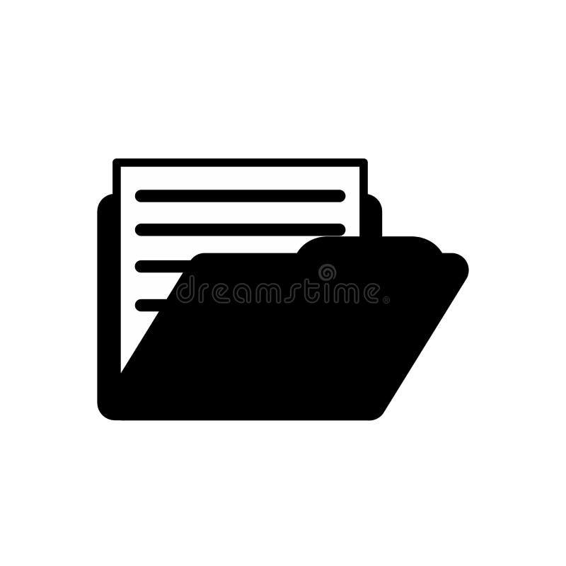 在文件夹象的文件 皇族释放例证