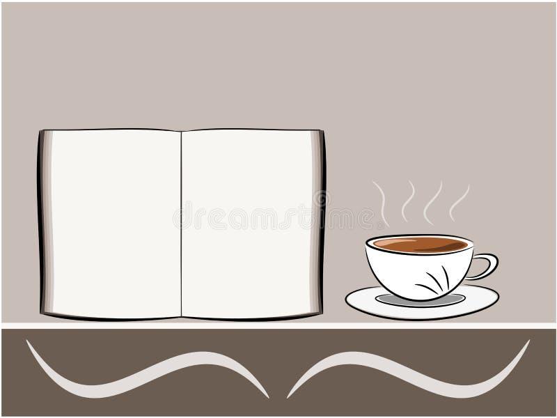 咖啡和书图解 向量例证