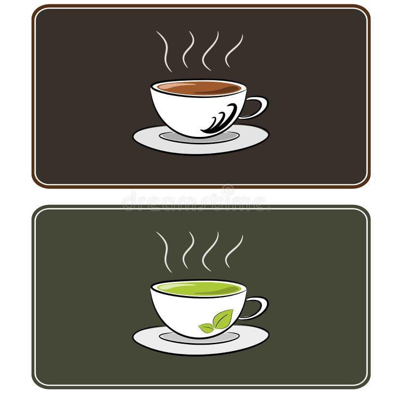 咖啡和茶例证 库存例证