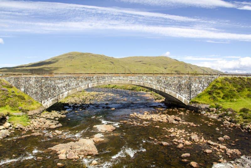 在斯凯岛,苏格兰小岛的桥梁  图库摄影