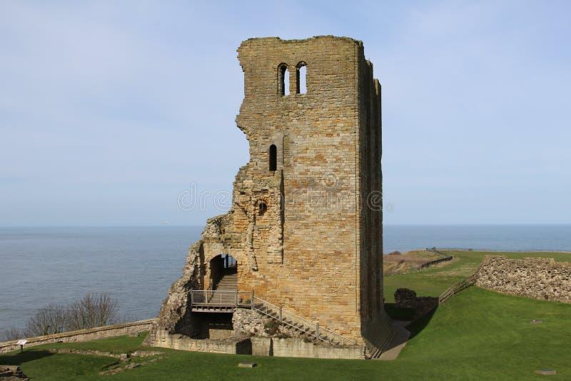 在斯卡巴勒城堡的塔 库存照片