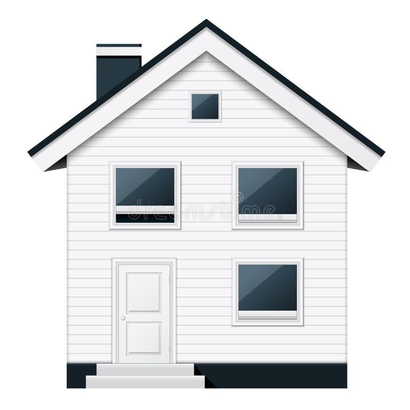 在斯堪的纳维亚样式的两叠生的郊区连栋房屋 皇族释放例证