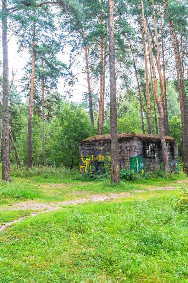 在斯摩棱斯克俄罗斯附近的希特勒` s纳粹地堡` Barenholle ` 免版税库存图片