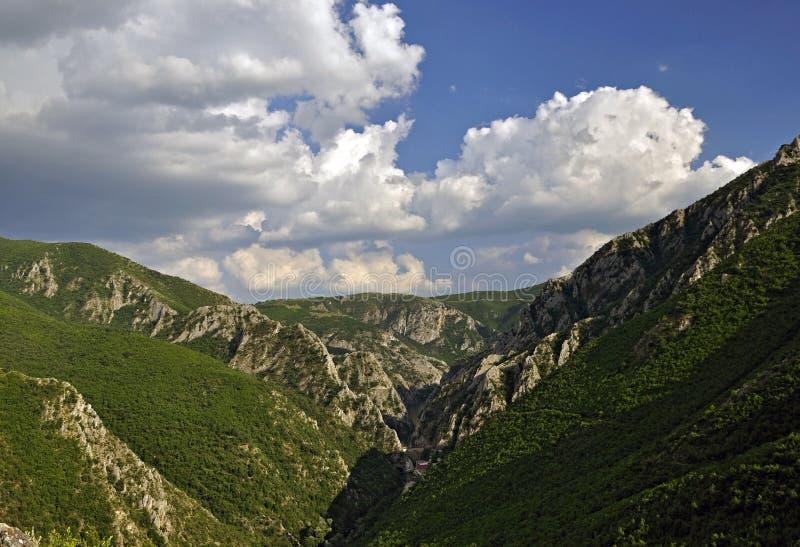 在斯科普里附近的峡谷matka 图库摄影