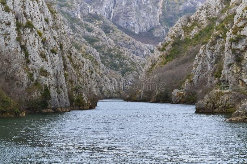 在斯科普里附近的著名峡谷 库存照片