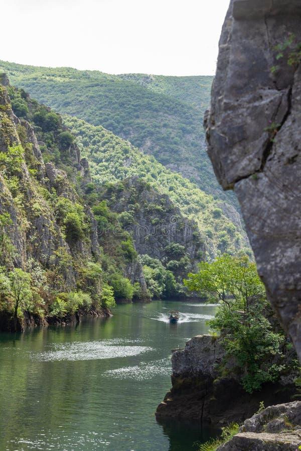 在斯科普里附近的马特卡峡谷 库存照片