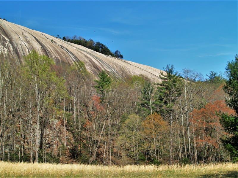 在斯通山国家公园的花岗岩圆顶 库存照片