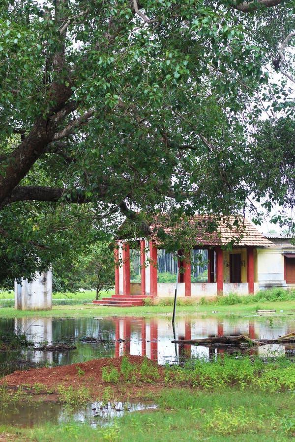 在斯里兰卡的古老印度寺庙 图库摄影