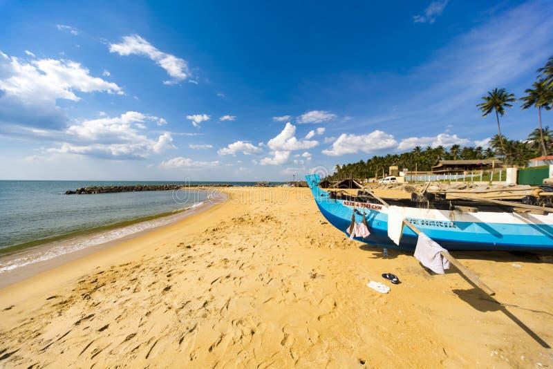 在斯里兰卡的Negombo海滩 免版税库存图片