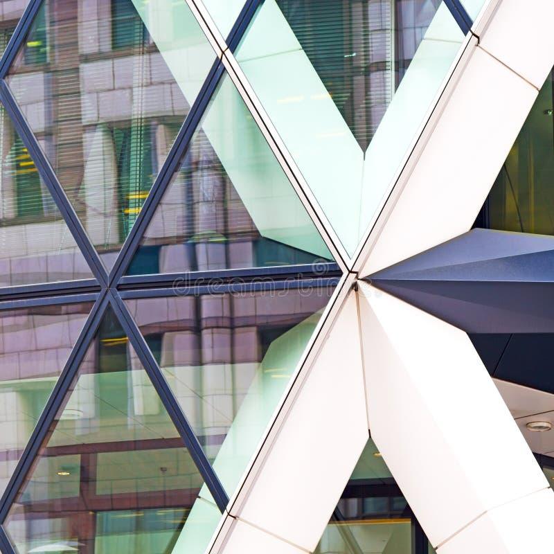 在新修造的伦敦摩天大楼财政distric 免版税图库摄影