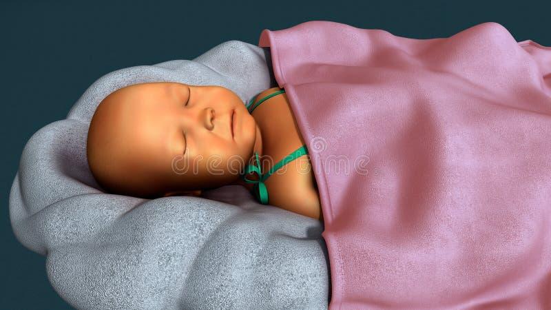 在新出生的黄疸 免版税库存图片
