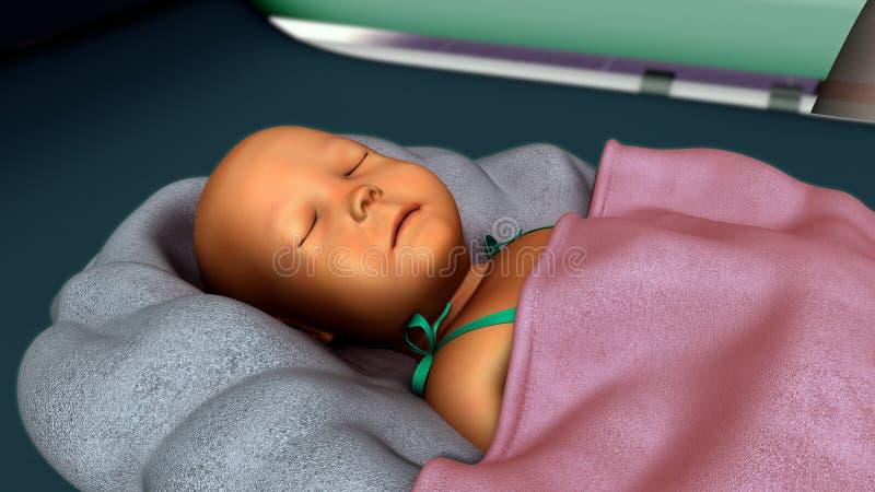 在新出生的黄疸 库存照片