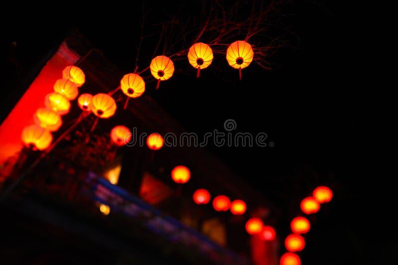 在新年度庆祝期间的灯笼在中国 库存照片