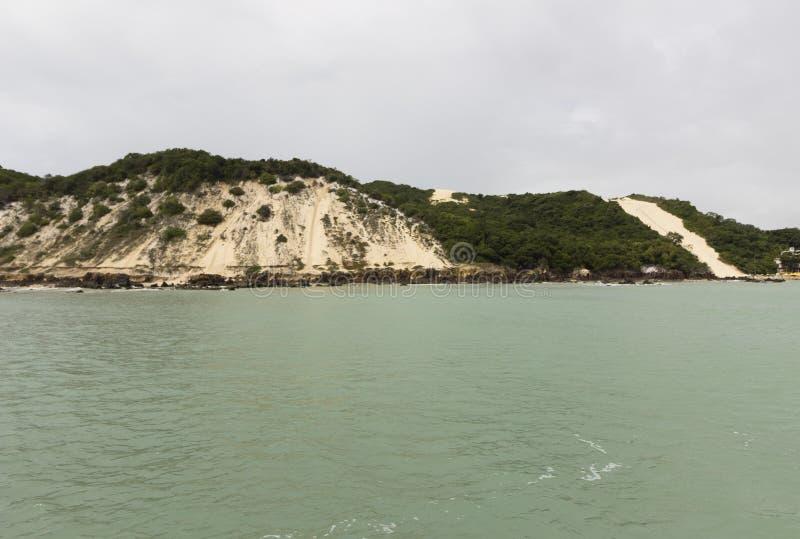 在新生, RN,巴西的Ponta内格拉海滩 免版税库存照片