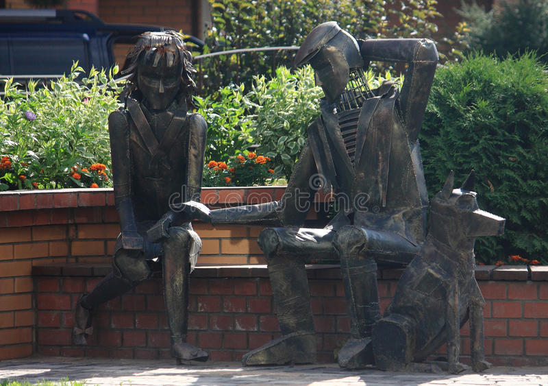 在新西伯利亚雕刻'分割' 免版税库存图片