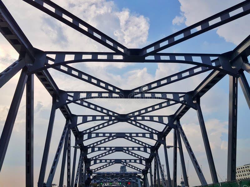 在方式天空桥梁上 免版税库存照片