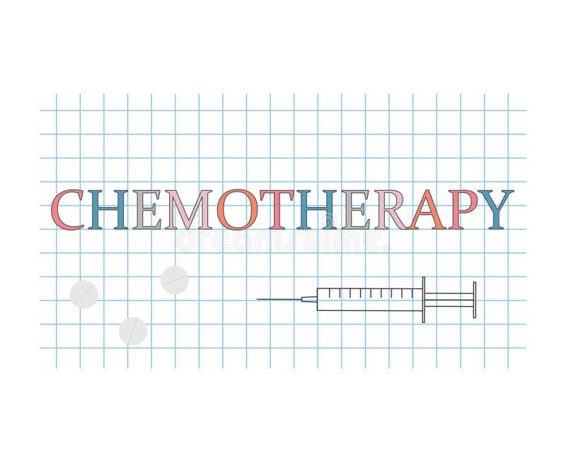 在方格的纸板料的化疗词 向量例证