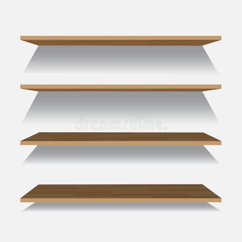 在方格的背景的传染媒介空的木架子 皇族释放例证